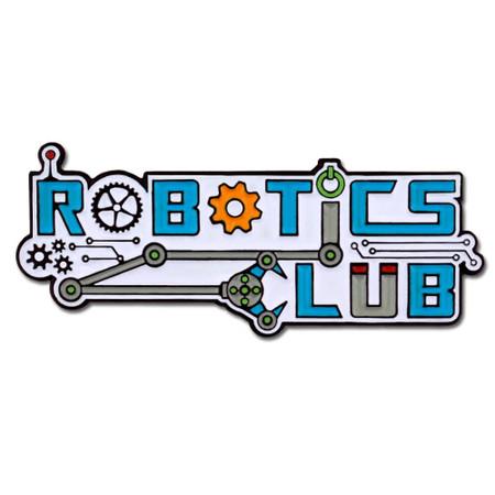Robotics Club Pin Front