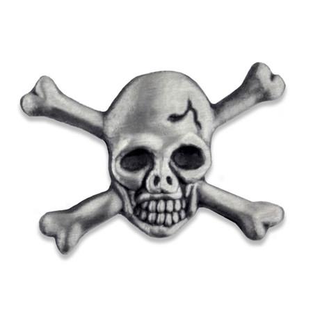 Skull and Cross Bones Pin Front