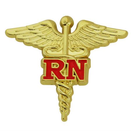 RN Caduceus Lapel Pin Front