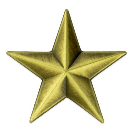 3D Star Pin Bronze