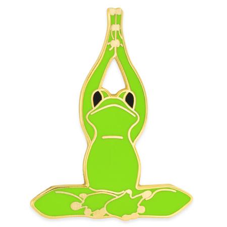 Yoga Frog - Lotus Pose Pin Front