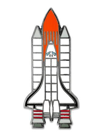 Rocketship Pin Front