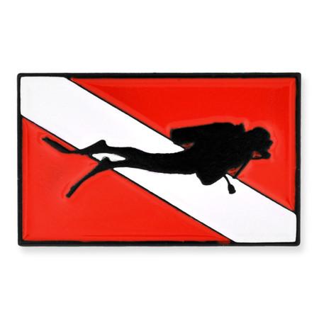 Diver Down Flag Pin