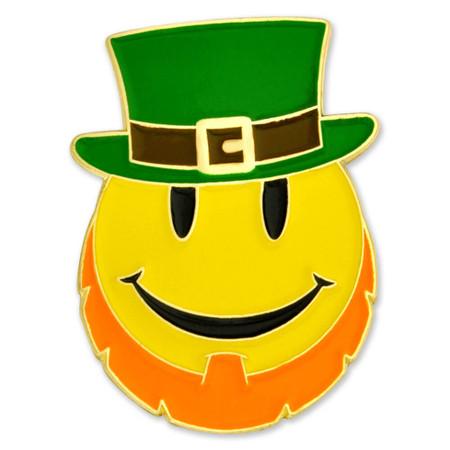 Leprechaun Smiley Face Pin Front