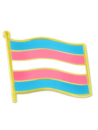 Transgender Pride Flag Pin Front