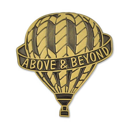 Above and Beyond Pin Front