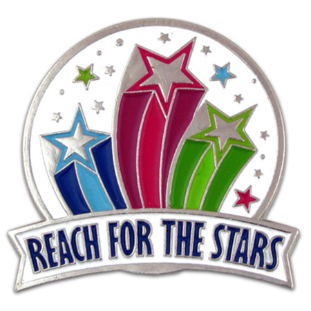 Reach For The Stars Pin Front