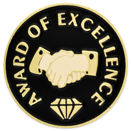 Award of Excellence Pin Front