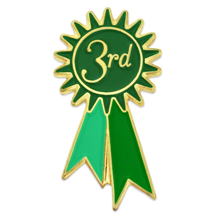 3rd Place Ribbon Pin Front