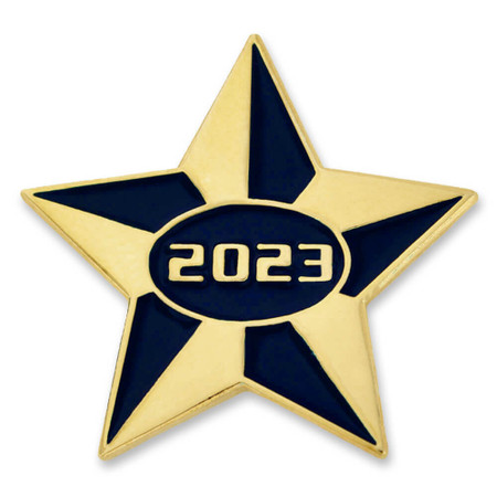 2023 Blue and Gold Star Pin Front