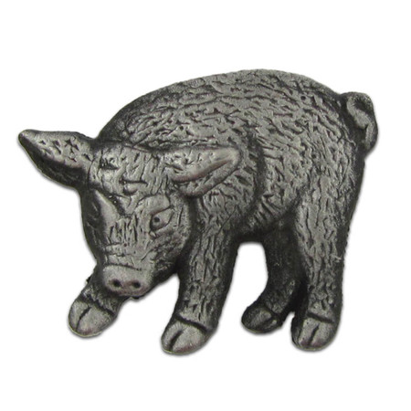 Pig Pin - Antique Silver