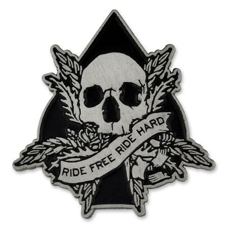 Ride Free Lapel Pin Front
