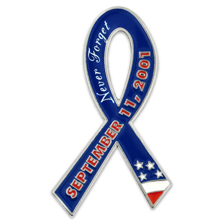9-11 Never Forget Pin Front