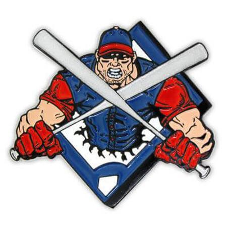 Baseball - Crossed Bats Pin Front
