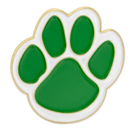 Green Paw Pin