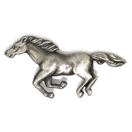 Horse Pin - Antique Silver Front