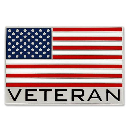 Veteran American Flag Pin Front