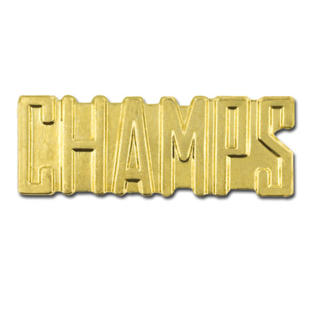 Champs Chenille Pin Front
