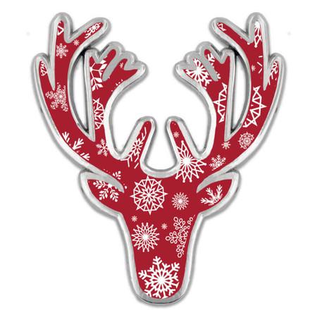 Winter Deer Pin Front