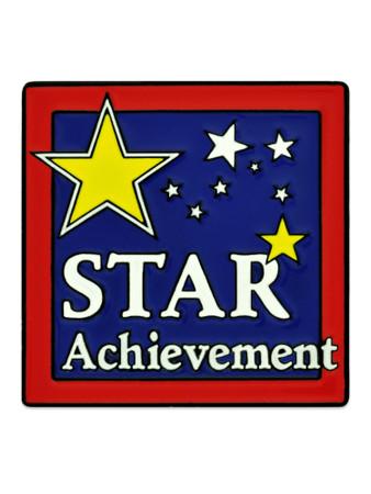 Star Achievement Pin Front