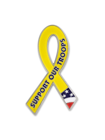 Awareness Pin - Support Our Troops Front