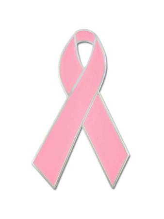 Pink Awareness Ribbon Pin Front