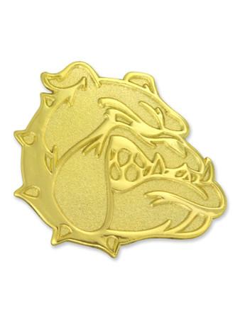 Bulldog Mascot Chenille Pin Front