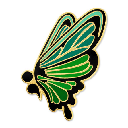 Semicolon Butterfly Pin Front