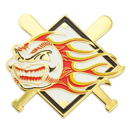 Baseball - Flaming Ball Pin
