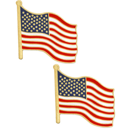 Two American Flag Pins