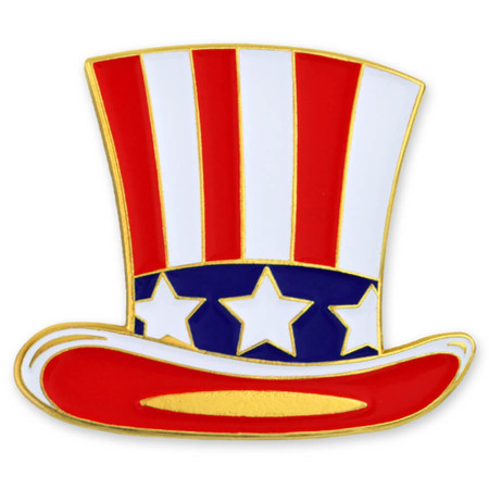 Uncle Sam Hat Pin Front