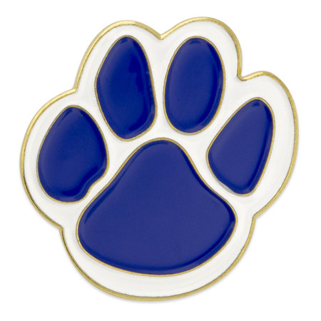 Blue Paw Pin