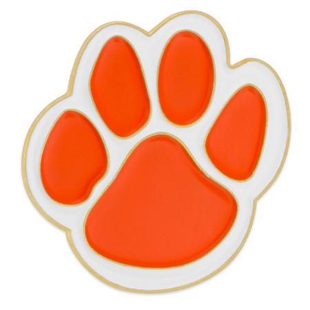 Orange Paw Pin
