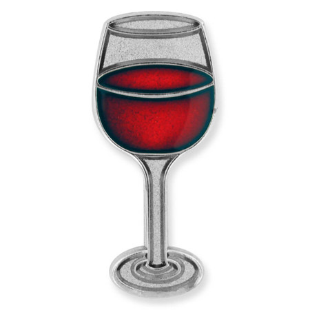 Wine Glass Lapel Pin Front