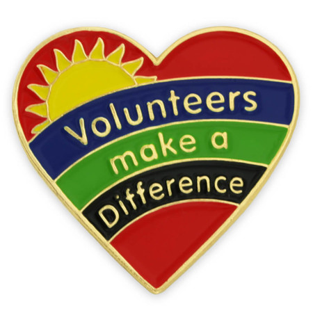 Volunteers Make A Difference Pin Front