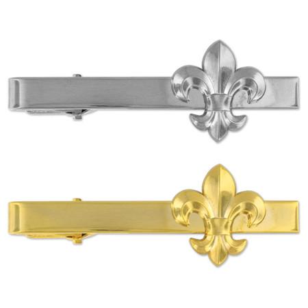 Fleur-de-lis Tie Clip-Engravable Front