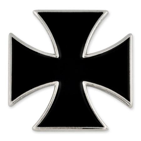 Black Iron Cross Pin Front