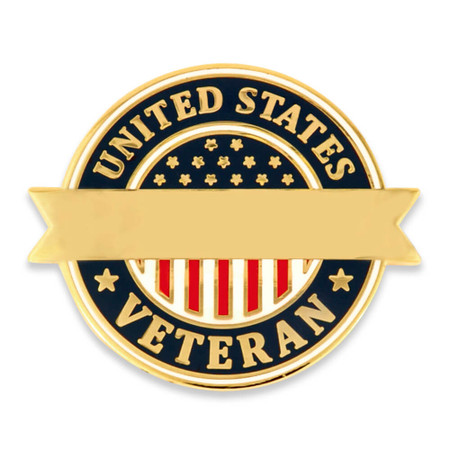 United States Veteran Pin-Engravable Front