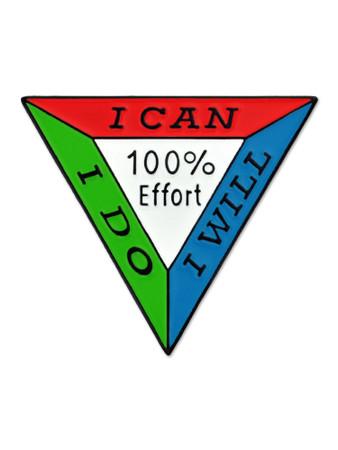 100% Effort Pin Front