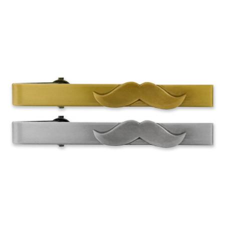 Mustache Tie Clip-Engravable Front