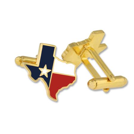 Texas State Shape Cufflink Set Alt Gold