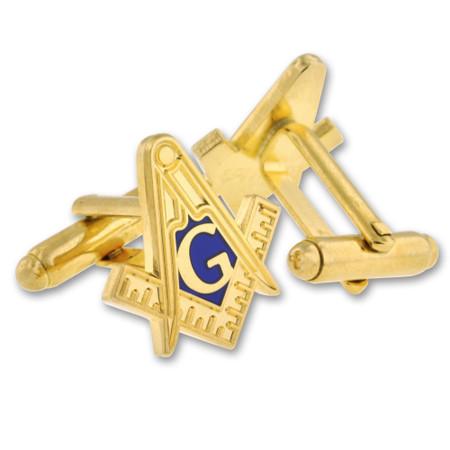 Masonic Cufflink Set Gold Alt