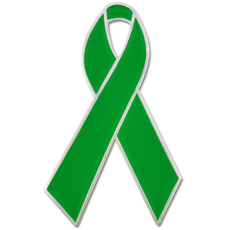 Green Ribbon Pin
