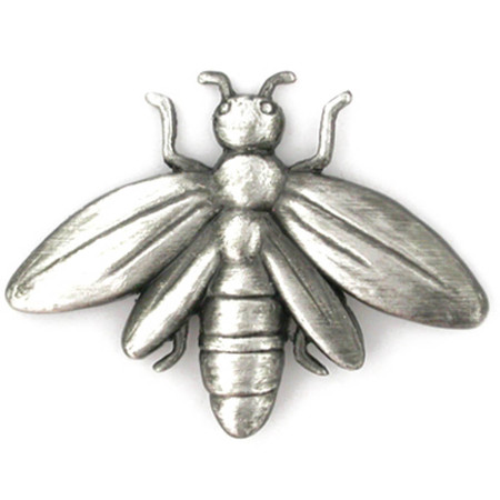 Bee Pin - Antique Silver Front