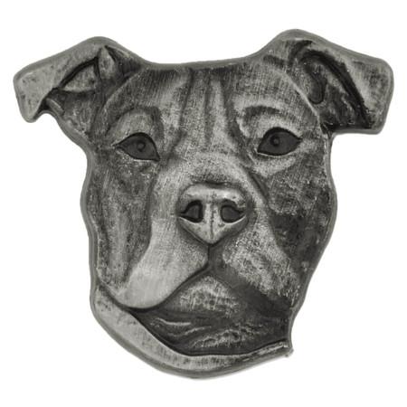 Pitbull Terrier Dog Pin Front
