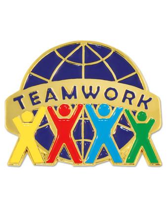 Teamwork World Pin Front