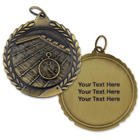 Swimming Medal - Engravable Gold