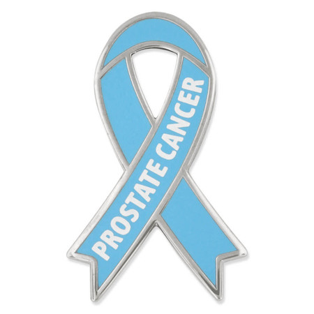 Awareness Ribbon Pin - Prostate Cancer Front