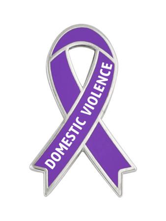 Domestic Violence Awareness Ribbon Pin Front