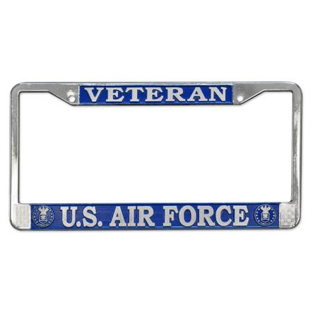 Air Force Veteran License Plate Frame
